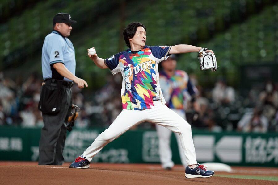 ピアニスト清塚信也さんの始球式をDASAがサポート!